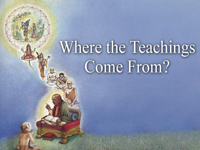 Where the teachings originate from?