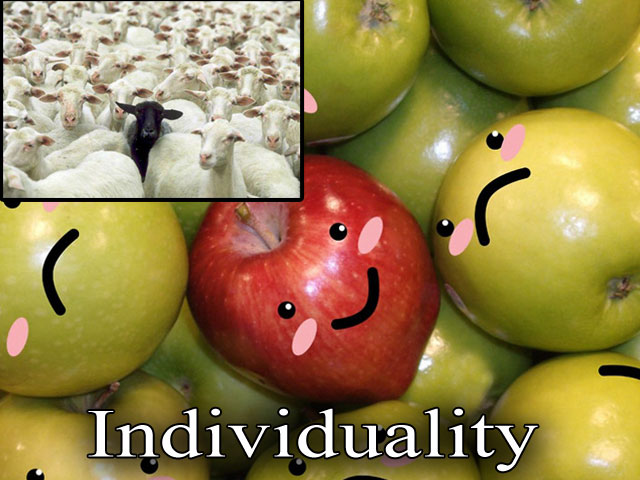 Individuality. Behind the mask. Beyond the labels.